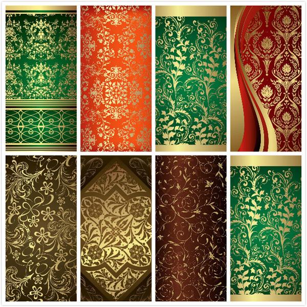 矢量背景所需点数: 0 点 关键词: 烫金花纹背景矢量素材,欧式,古典