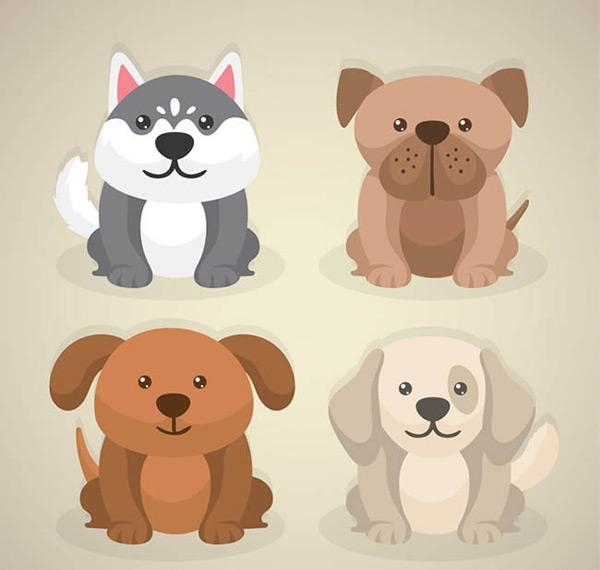 可爱宠物狗矢量图下载,哈士奇,宠物,狗,动物,矢量图,ai格式