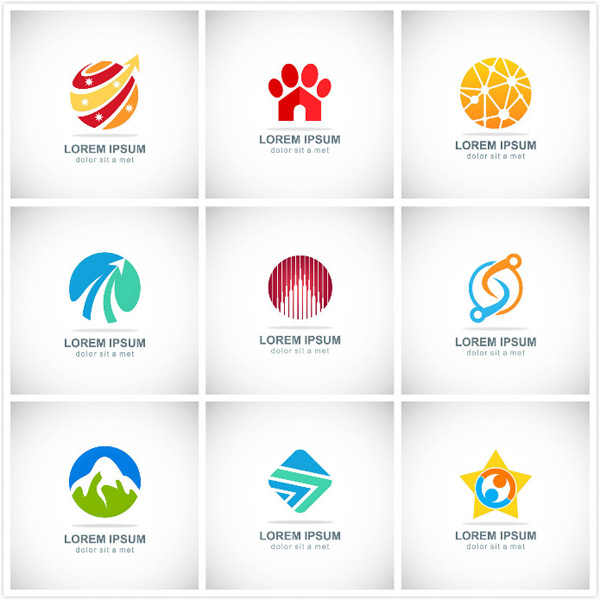 彩色图标矢量素材,彩色图标,企业标志,商业标志,简约标志,创意标志,logo设计,创意logo,图形商标,行业标志,标志图标,矢量素材,页面,对色,文教,社会,企业,雪山,山峰,户外行业,动物足迹,生物结构,飞翔标志,音乐节奏,抽象工具,分割球体,圆角正方形折线,手拉手五角星,重叠页面,环保水滴,彩色低边形,EPS