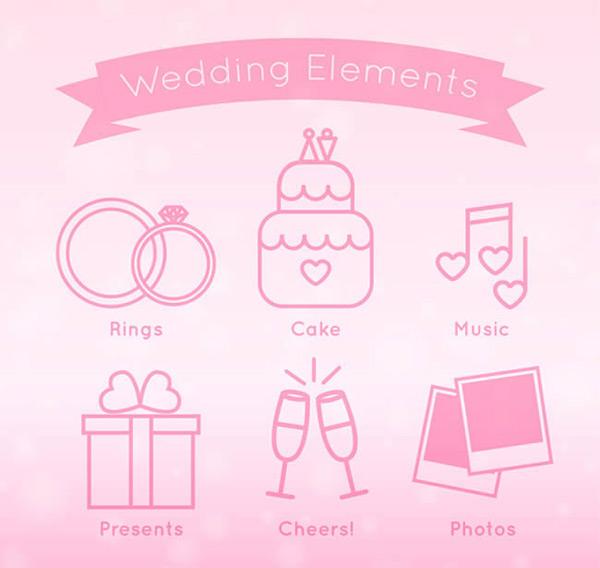 婚礼元素图标