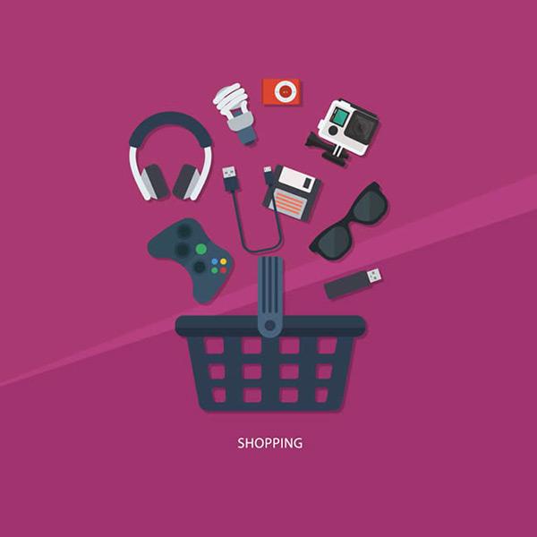 游戏机手柄,眼镜,u盘,照相机,数据线,数据盘,购物篮,电子产品,图标,矢