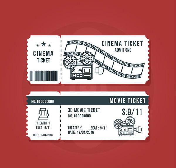 电影票正反面