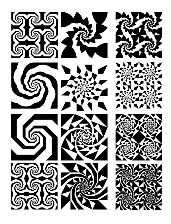 构成 图案点线面构成黑白图案黑白渐变构成图案;