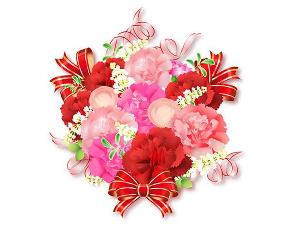 花朵蝴蝶结背景