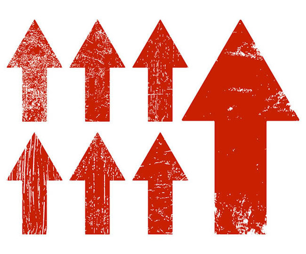 向上的箭头符号矢量图下载