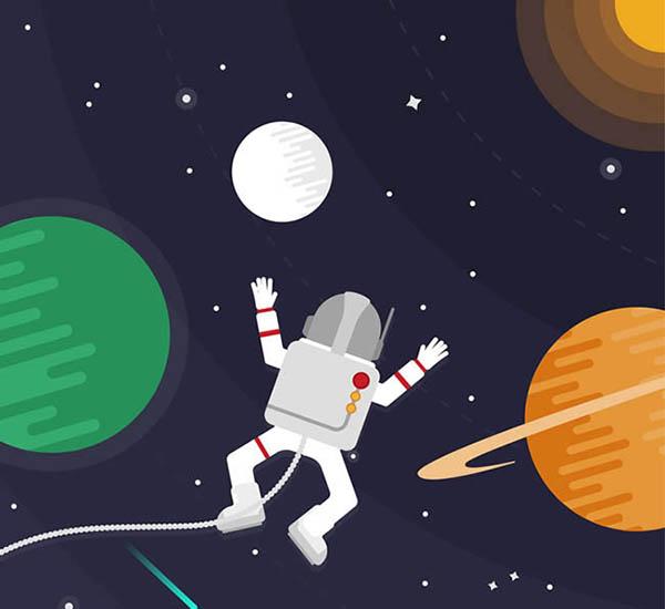 太空漫步的宇航员