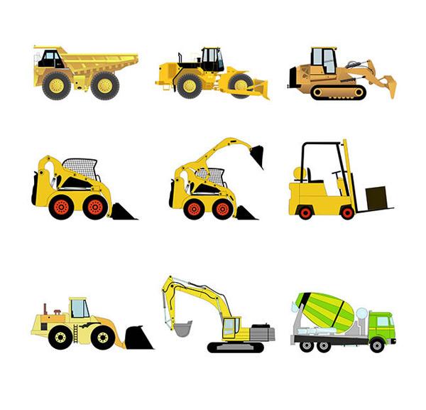 素材分类: 矢量各式图标   关键词:  工程运输车辆图标矢量图下载