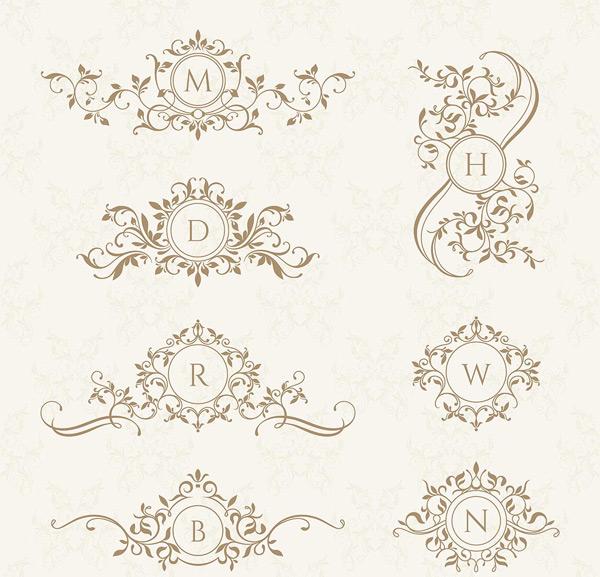 欧式花纹徽章