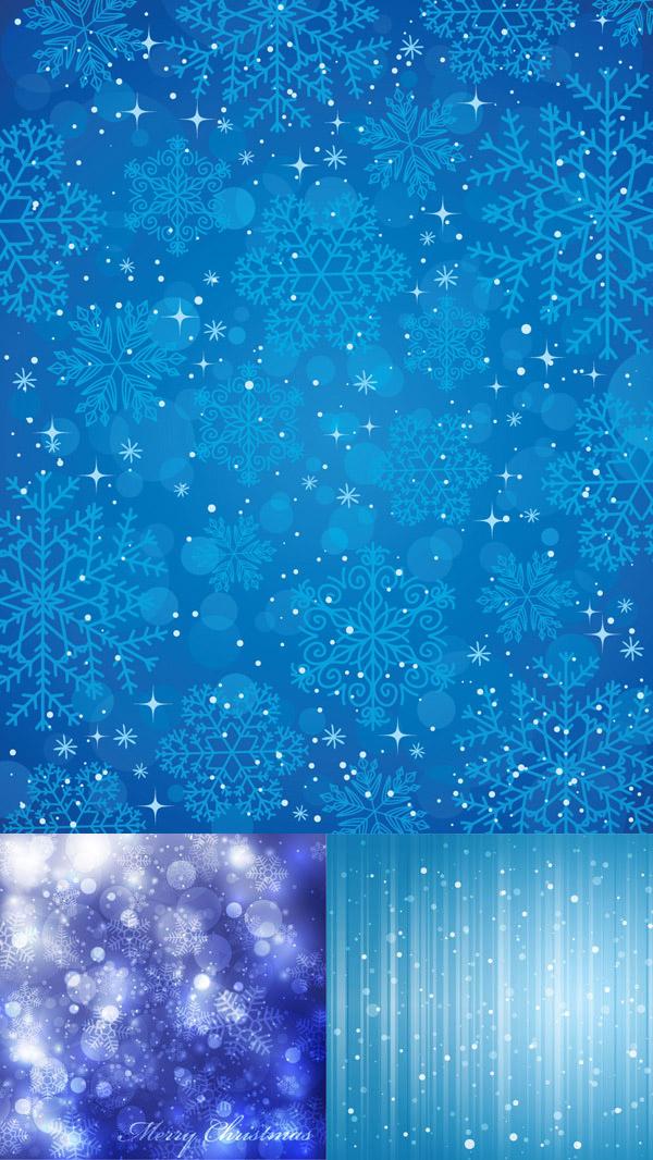 0 点 关键词: 蓝色雪花背景矢量图,雪花,雪片,梦幻,光晕,蓝色,冬季
