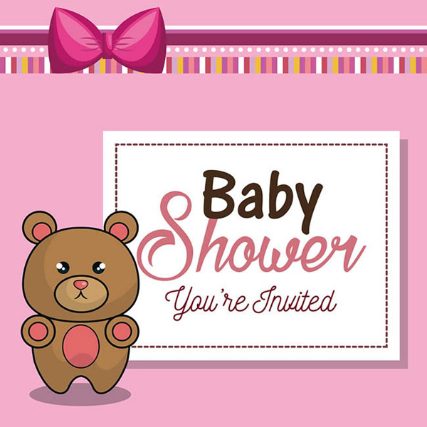 粉色小熊背景图案矢量图下载,粉色,小熊,背景图案,卡片,蝴蝶结,矢量