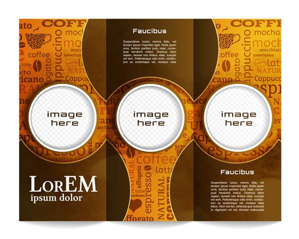 素材分类: 平面广告所需点数: 0 点 关键词: 立体圆环咖啡三折页图片