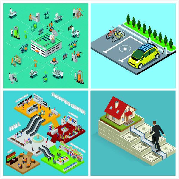 立体场景矢量图三维立体商场设计三维,立体,商场,电梯,人物,实验室