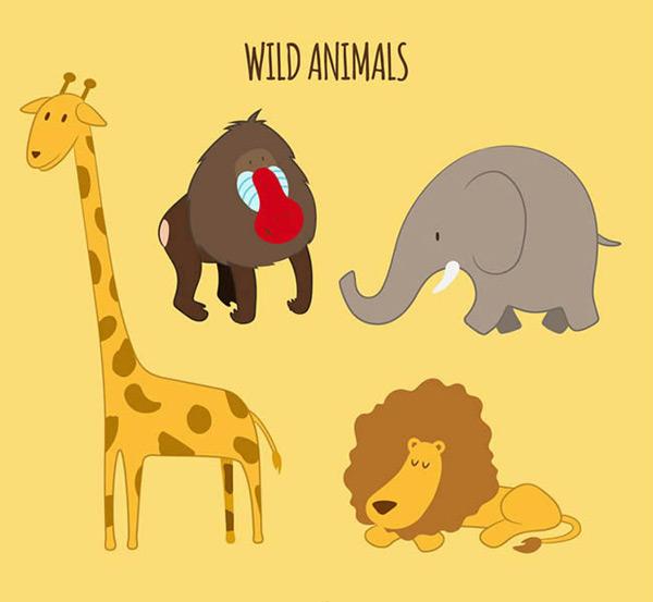 野生动物卡通
