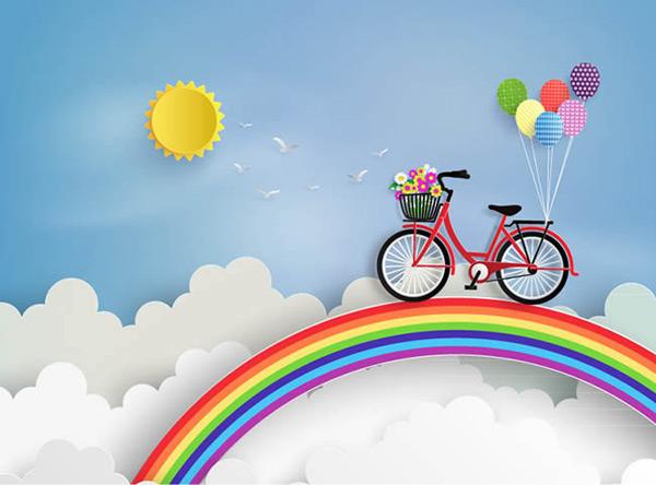 2010qq彩虹昚\_彩虹上的单车