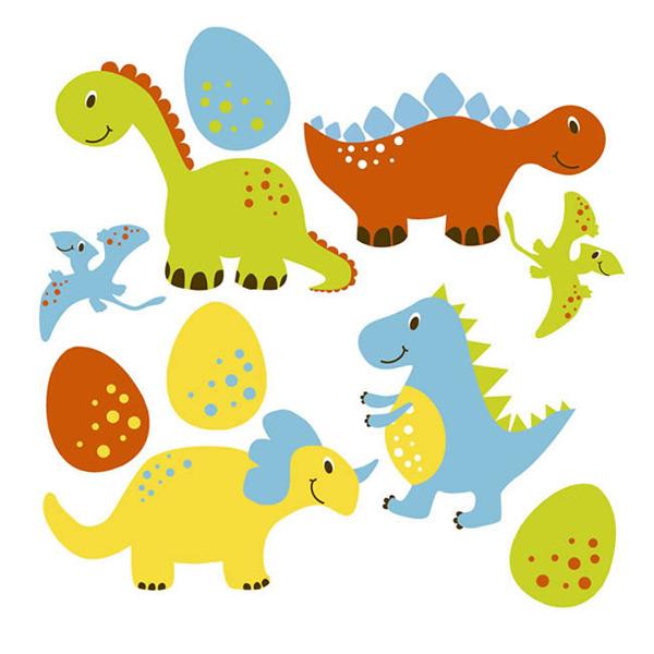 长颈龙,爬行动物,翼龙,恐龙,卡通,动物,恐龙蛋,矢量图,eps格式 下载