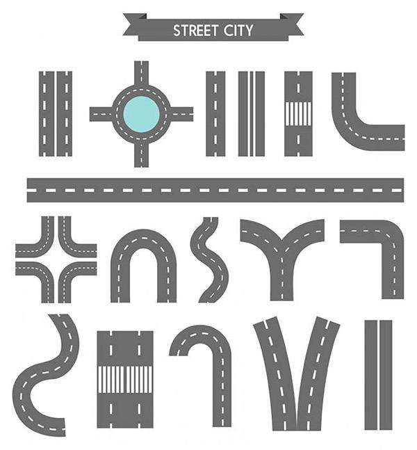 0 点 关键词: 17款公路矢量图下载,公路,路口,十字路口,道路标示,矢量