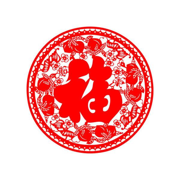 素材分类: 矢量春节所需点数: 0 点 关键词: 新年窗花福字剪纸矢量图