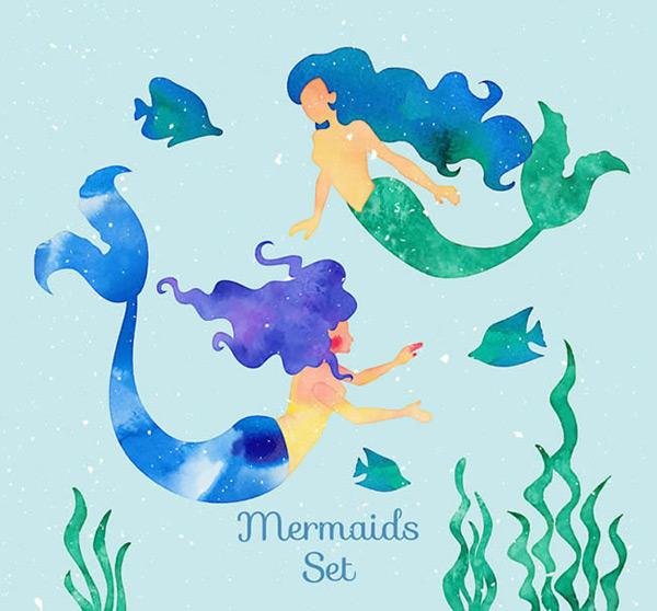 0 点 关键词: 大海中的美人鱼矢量图下载,水彩,鱼,大海,水草,美人鱼