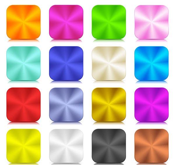 金属质感彩色按钮