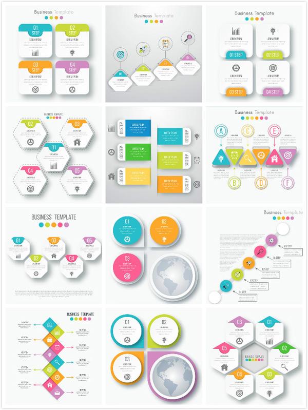 关键词: 创意信息图表矢量素材,信息图表,图表,商务,信息,标签,灯泡