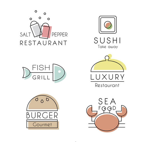 矢量logo图形所需点数: 0 点 关键词: 素雅餐厅标志矢量图下载,素食
