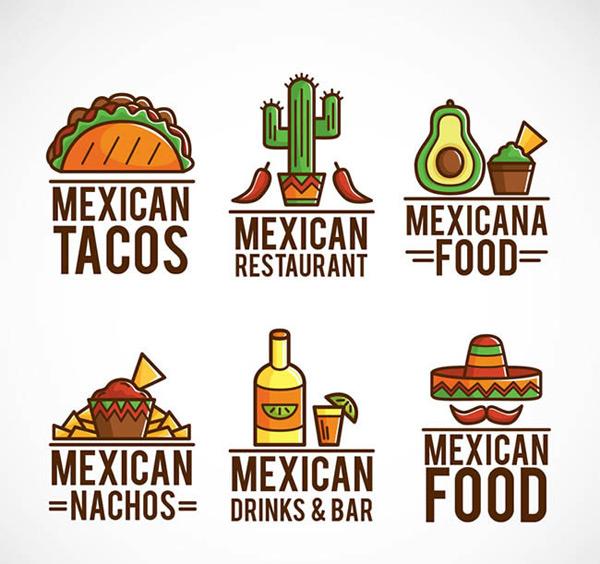 素材分类: 矢量logo图形所需点数: 0 点 关键词: 彩色墨西哥食物标志