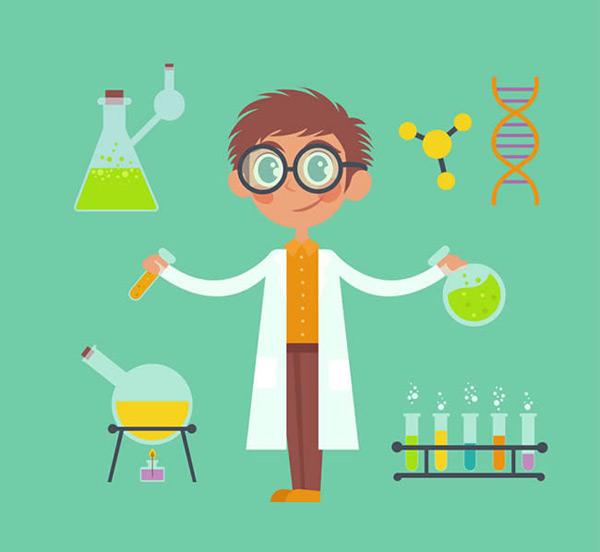 化学实验器材简笔画