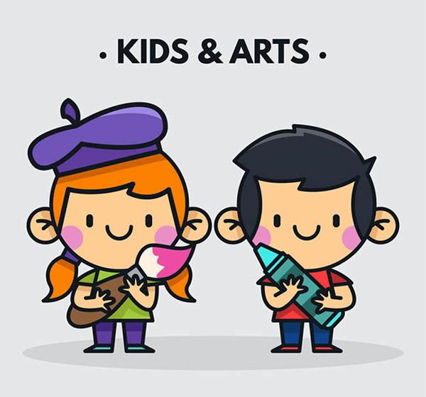 卡通绘画儿童_素材中国sccnn.com