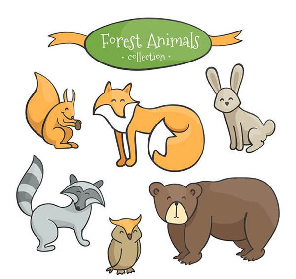可爱森林动物