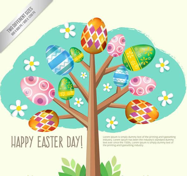 矢量节日其它所需点数: 0 点 关键词: 彩色花纹彩蛋树矢量图下载