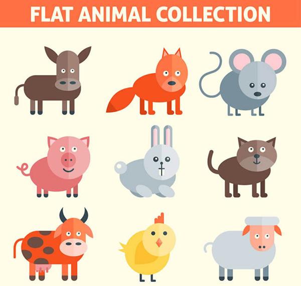 素材分类: 矢量卡通动物所需点数: 0 点 关键词: 扁平化动物设计矢量