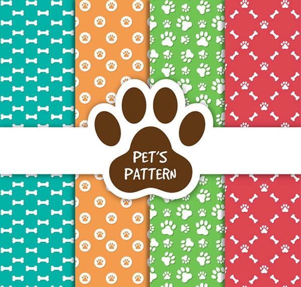 0 点 关键词: 宠物元素无缝背景矢量图下载,动物,宠物,脚印,狗,猫