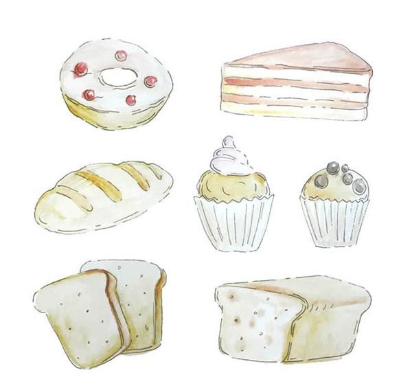 0 点 关键词: 手绘糕点矢量图下载,甜甜圈,纸杯蛋糕,三角蛋糕,面包