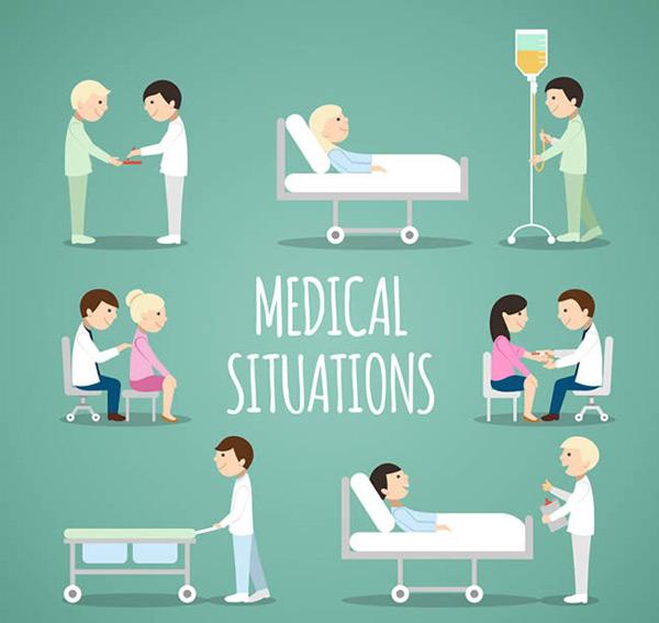 人物,医生,护士,病人,医院,医疗,角色,人物,矢量图,ai格式 下载文件特