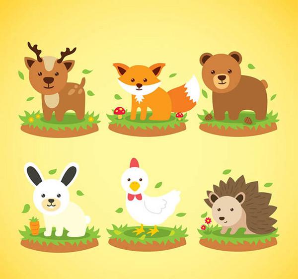 素材分类: 矢量卡通动物所需点数: 0 点 关键词: 可爱动物设计矢量图