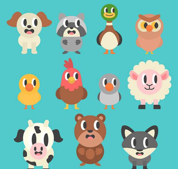 0 点 关键词: 卡通斜眼看的动物矢量图下载,狗,浣熊,鸭子,猫头鹰