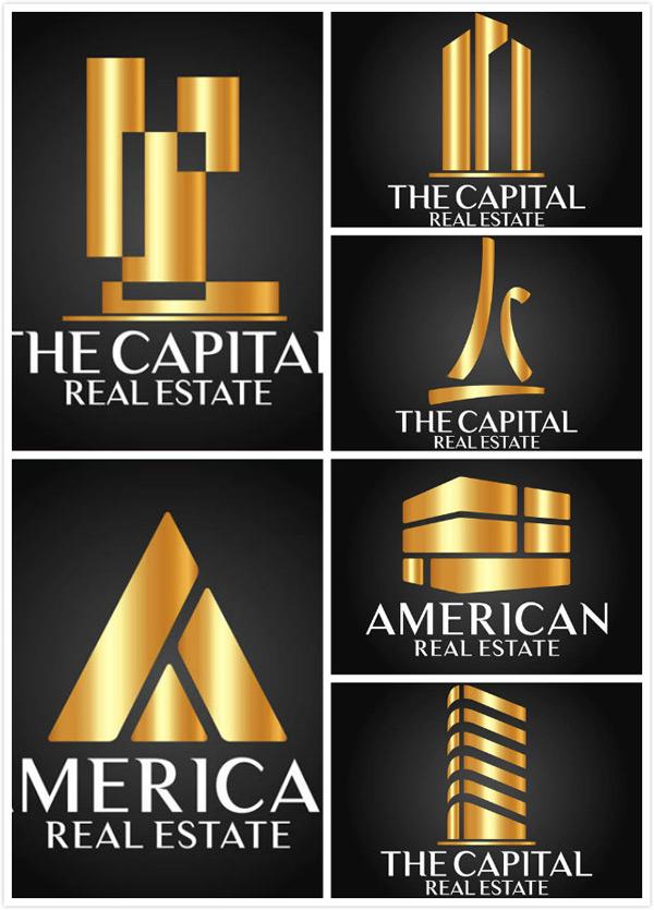 创意设计,标志设计,logo设计,房地产,金色,抽象,eps 下载文件特别说明