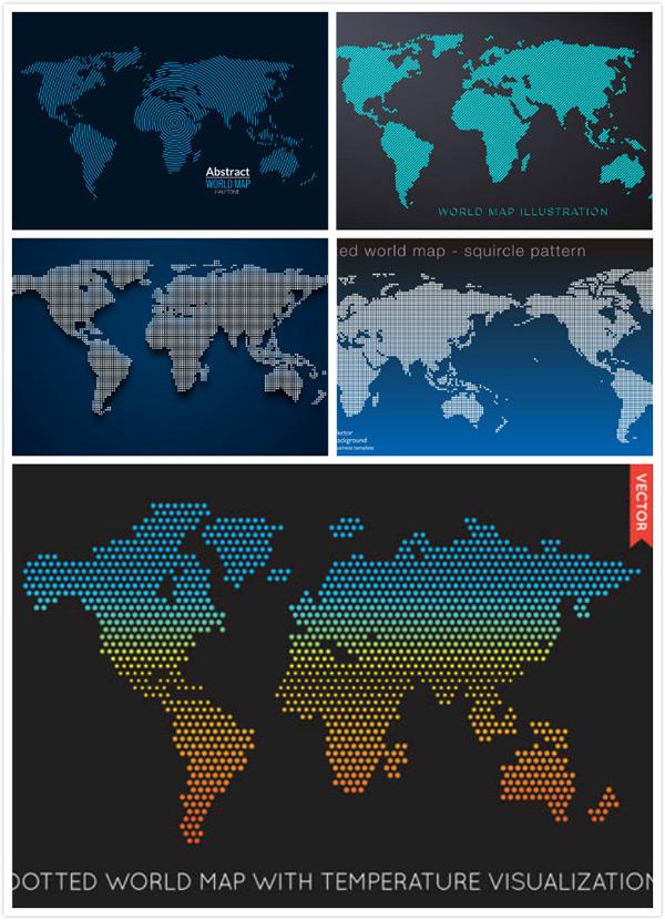 点状世界地图
