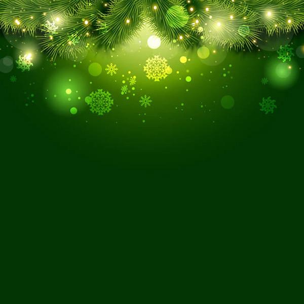 素材分类: 矢量背景所需点数: 0 点 关键词: 绿色松枝与雪花背景矢量
