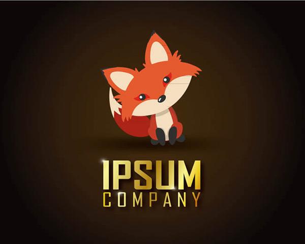 素材分类: 矢量logo图形所需点数: 0 点 关键词: 可爱歪头狐狸标志