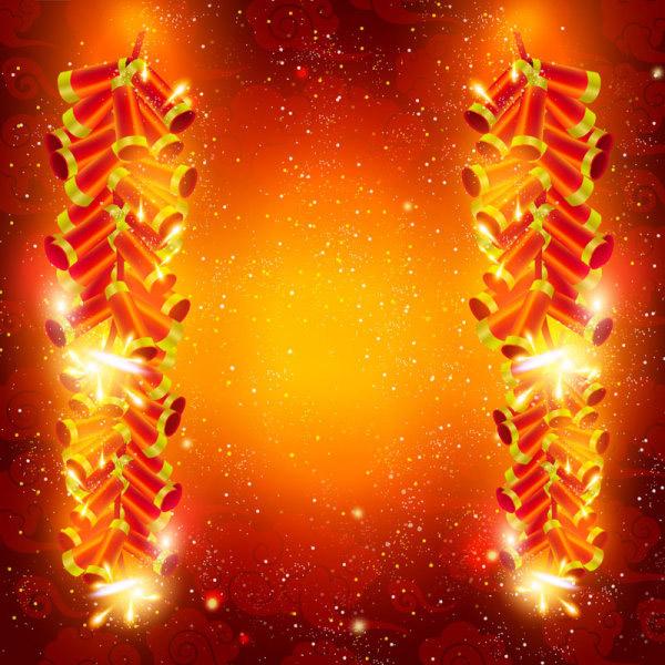 中国风<font color=red>春节鞭炮</font>_矢量春节 - 素材中国_素材CN
