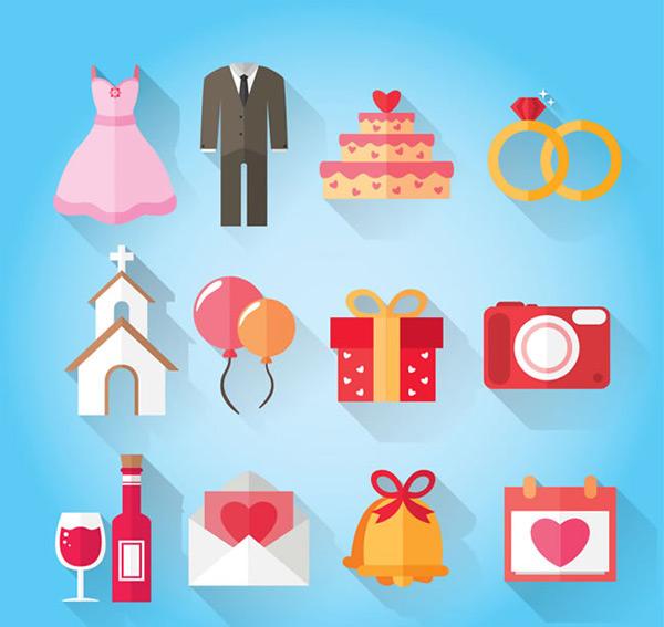 素材分类: 矢量各式图标所需点数: 0 点 关键词: 西式婚礼元素扁平化