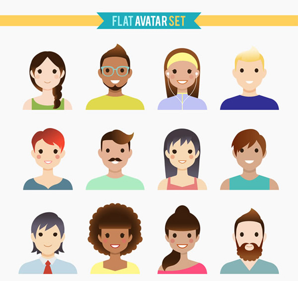 Human face vector free download - photo#48