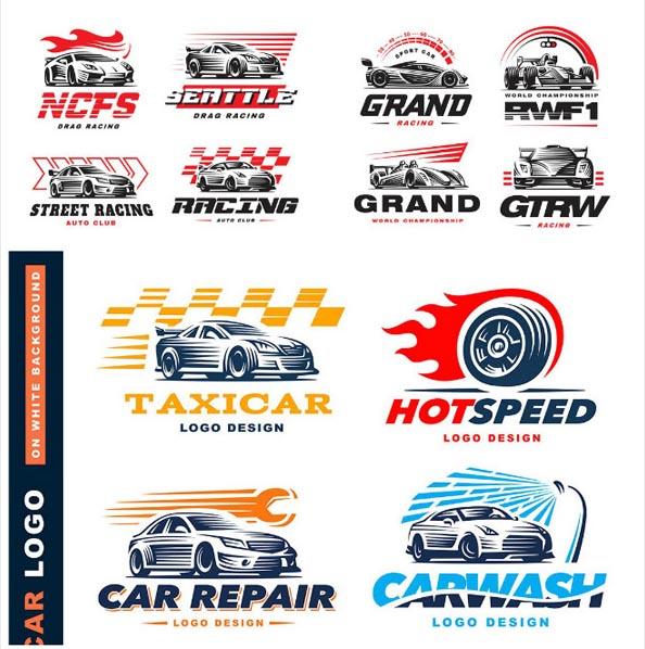 汽车俱乐部logo,汽车行业icon设计,汽车素材,手绘汽车,出租车标志
