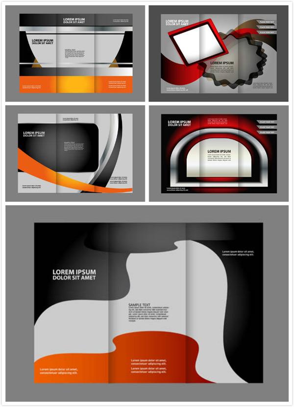 创意设计,版式设计,画册设计,折页设计,三折页,几何抽象,曲线,线条