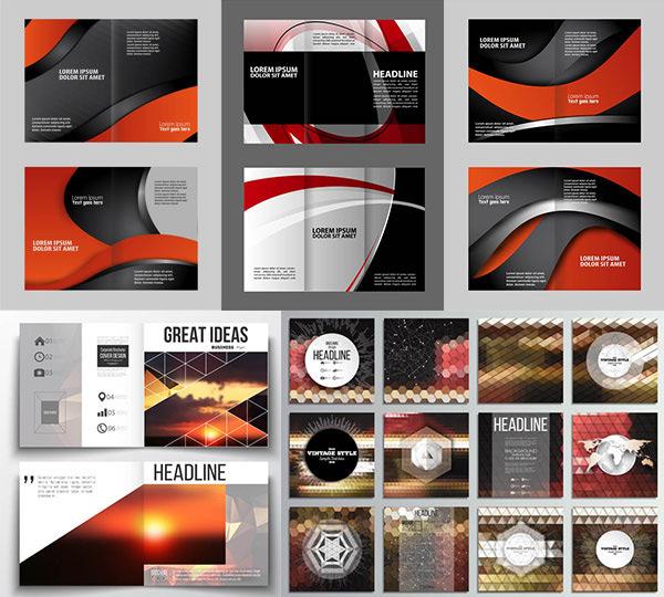 矢量图,设计素材,创意设计,版式设计,画册设计,折页设计,三折页,几何