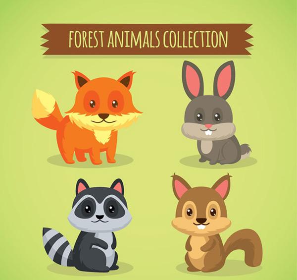 素材分类: 矢量卡通动物所需点数: 0 点 关键词: 呆萌眼睛森林小动物