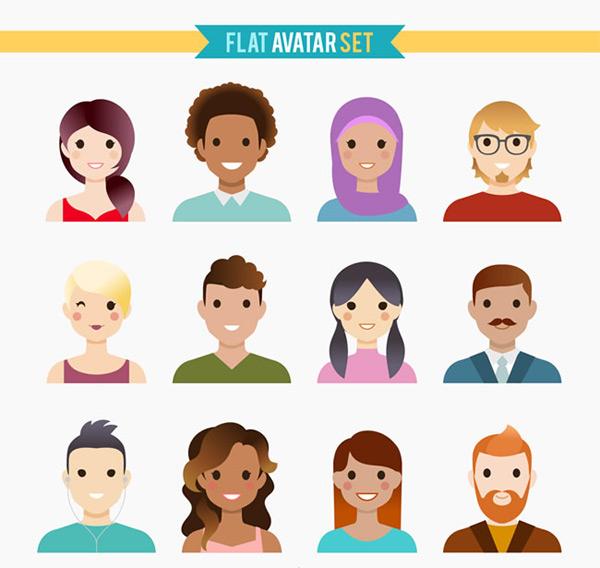 用户头像矢量图,笑脸矢量图,男子,女子,人物,头像,用户头像,笑脸,矢量