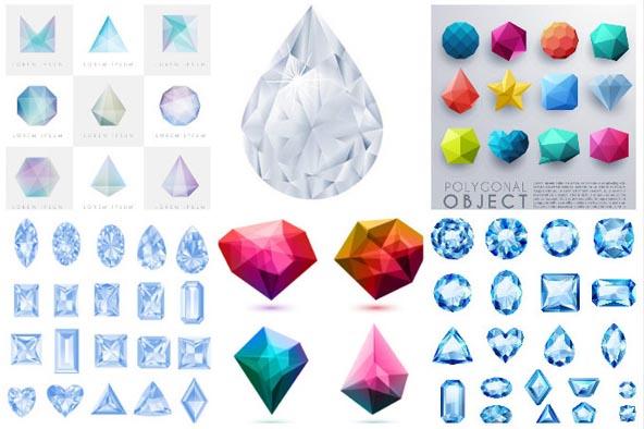 宝石矢量素材