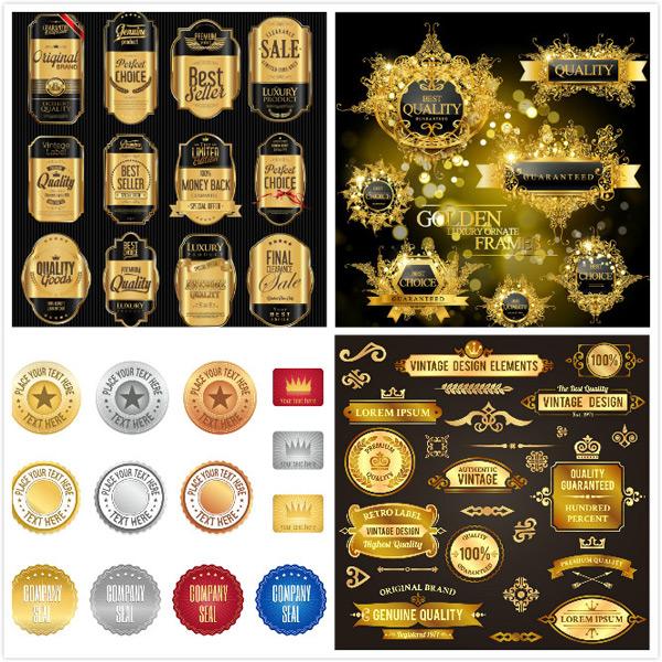 水晶质感标签,标贴设计,欧式边框花边,,飘带素材,欧式花纹,分隔纹